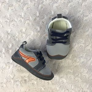 Child of Mine Baby Sneakers Orange Gray 3-6 Months